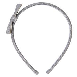 Accessoire pour cheveux serre-tête noeud glitter argent