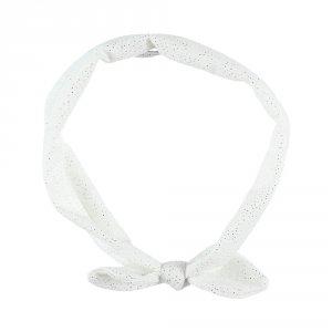 Accessoire pour cheveux bandeau pois blanc