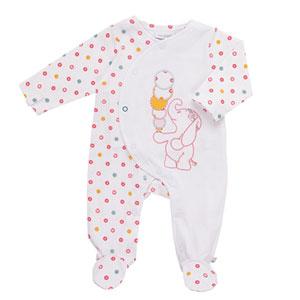 Pyjama dors bien jersey blanc graph girl