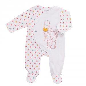 Noukies Pyjama dors bien jersey blanc graph girl