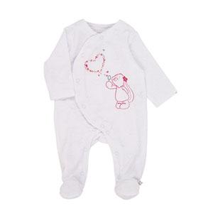 Pyjama dors bien velours blanc peps girl