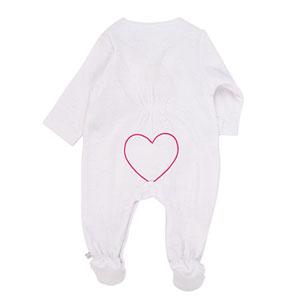 Noukies Pyjama dors bien velours blanc peps girl