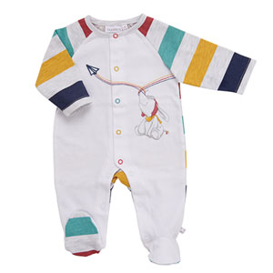 Pyjama dors bien jersey blanc / rayé peps boy