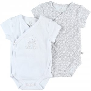 Lot de 2 bodies manches courtes blanc
