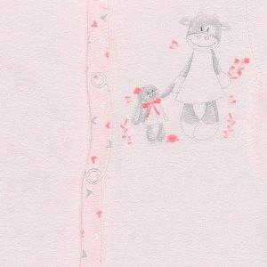 Noukies Pyjama dors bien velours smart girl rose