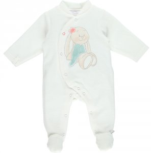 Pyjama dors bien velours graphic girl blanc