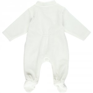Noukies Pyjama dors bien velours graphic girl blanc