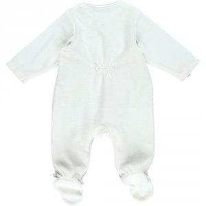 Noukies Pyjama dors bien velours smart girl blanc