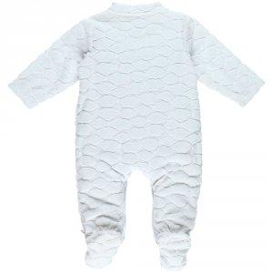 Noukies Pyjama dors bien velours cocon nuages blanc