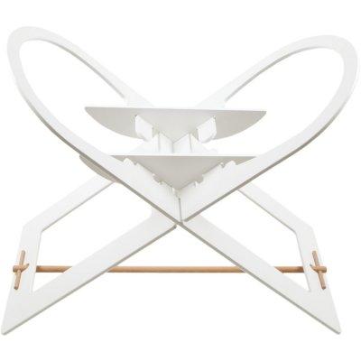 Support de couffin blanc avec barre de support en bois Noukies