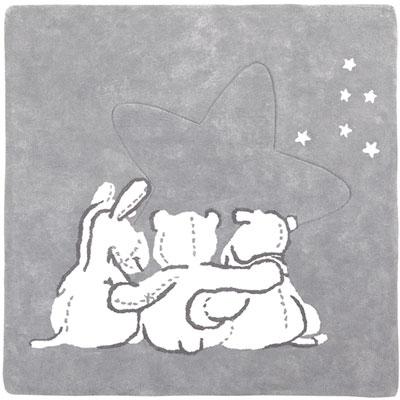 Tapis de chambre bébé en coton avec personnage poudre d'étoiles Noukies