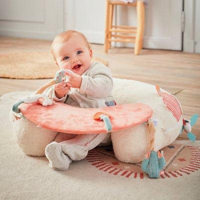 Tapis de chambre bébé coton bio 100x152cm moris et sacha Noukies