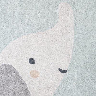 Tapis de chambre coton bio 120 x 120 cm anna et milo Noukies