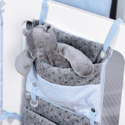 Poches de lit poudre d'étoiles bleu Noukies
