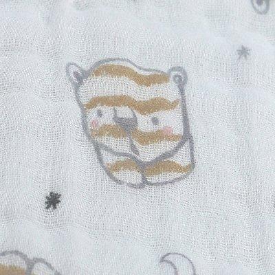 Tour de lit respirant tigre mousseline bio Noukies