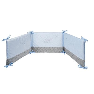 Tour de lit poudre d'étoiles bleu Noukies