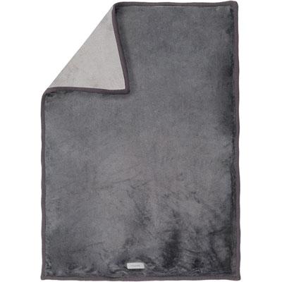 Couverture bébé groloudoux 100 x 140 cm gris foncé / gris clair Noukies