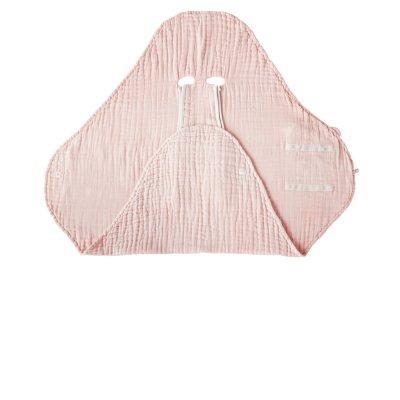 Couverture promenade rose clair en mousseline bio Noukies