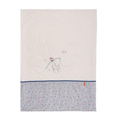 Couverture bébé veloudoux 75 x 100 cm guss et victor Noukies
