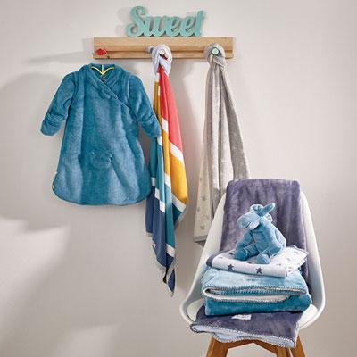 Couverture bébé jacquard 75 x 100 cm guss et victor Noukies