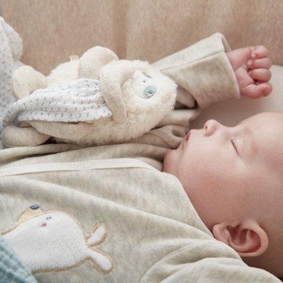 Ma première couverture bébé en mousseline bio moris Noukies