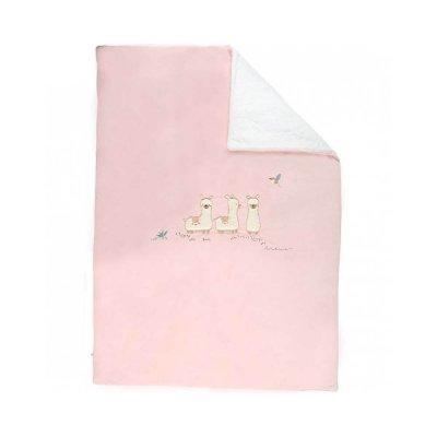 Couverture veloudoux rose 100x140cm moris et sacha Noukies