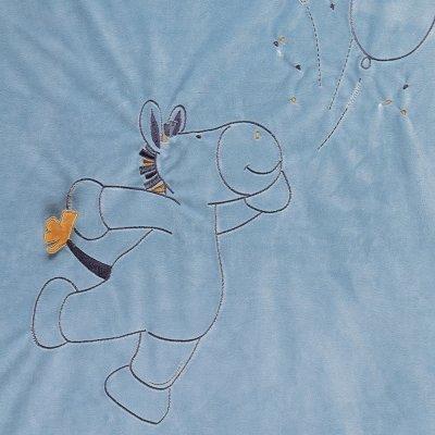 Couverture veloudoux 100x140cm achille et zebrito Noukies