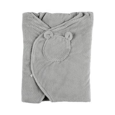 Couverture promenade groloudoux gris perle / gris foncé Noukies