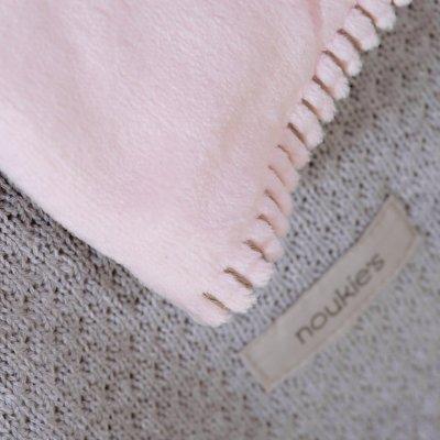 Couverture bébé veloudoux 100 x 140 cm poudre d'étoiles rose Noukies