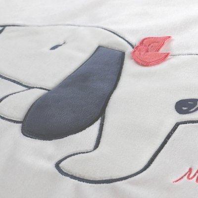 Couverture veloudoux 75 x 100 cm amy et zoé Noukies
