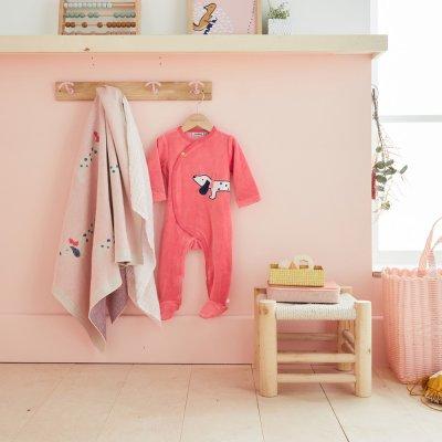 Couverture bébé jacquard bio 75 x 100 cm amy et zoé Noukies
