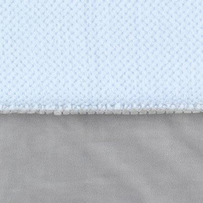 Couverture groloudoux 75 x 100 cm bleu cocon / gris perle Noukies