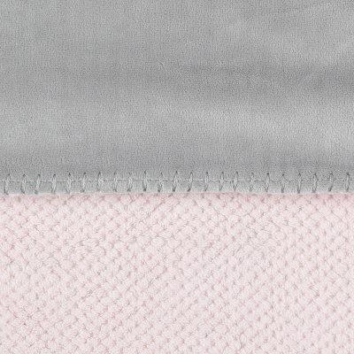 Couverture groloudoux 75 x 100 cm rose cocon / gris perle Noukies