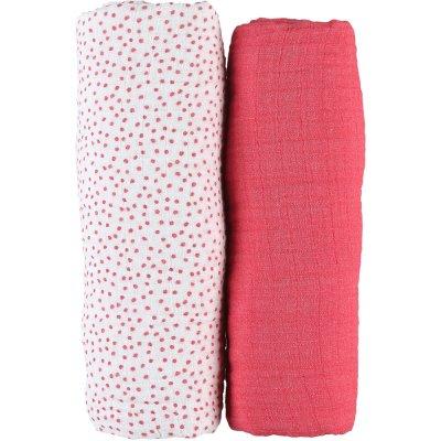 Lot de 2 draps housse 70 x 140 cm en mousseline bio amy et zoé Noukies