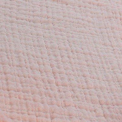 Lot de 2 draps housse 70 x 140 cm mousseline bio rose Noukies