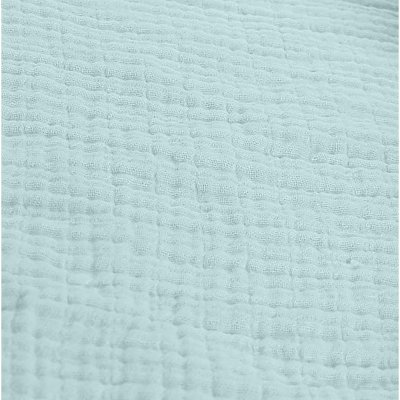 Lot de 2 draps housse 60 x 120 cm mousseline bio mint Noukies