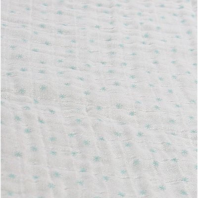 Lot de 2 draps housse 70 x 140 cm mousseline bio mint Noukies
