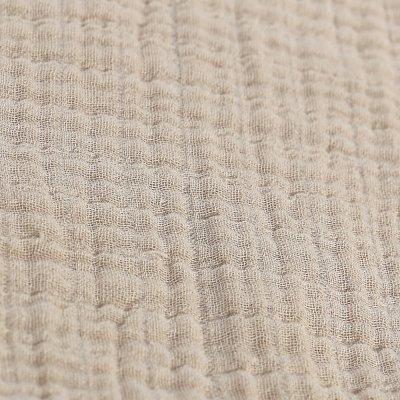 Lot de 2 draps housse 60 x 120 cm mousseline bio beige Noukies