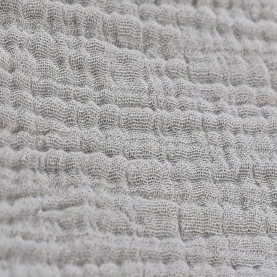 Lot de 2 draps housse 60 x 120 cm mousseline bio gris Noukies