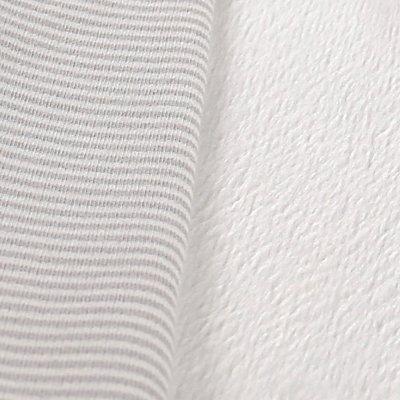 Gigoteuse sweatoloudoux gris clair 50 cm Noukies