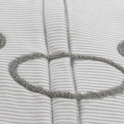 Gigoteuse sweatoloudoux 90 cm gris clair Noukies
