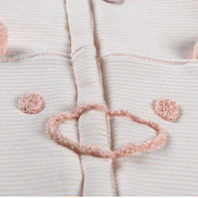 Gigoteuse sweatoloudoux 70 cm rose clair Noukies