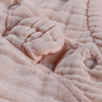 Gigoteuse nomade 50 cm rose clair mousseline bio Noukies