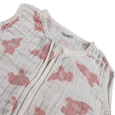 Gigoteuse elephant 6-36 mois rose clair mousseline bio Noukies