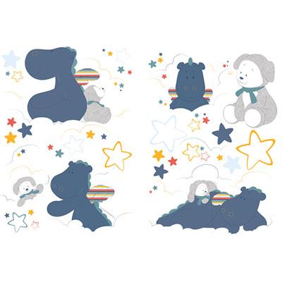 Stickers chambre bébé déco guss et victor Noukies