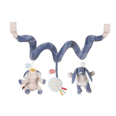 Jouet de lit bébé spirale d'activités bao et wapi Noukies