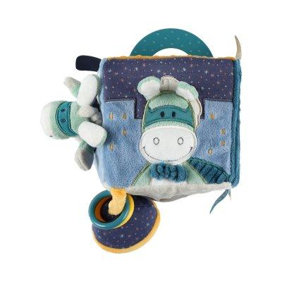 Jouet d'éveil bébé cube d'activités super-héros Noukies