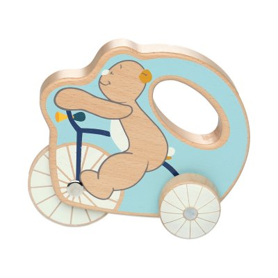 Jouet d'éveil bébé en bois tricycle nouky anniversaire Noukies