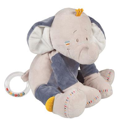 Jouet d'éveil bébé peluche à activités bao Noukies