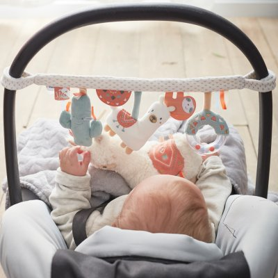 Jouet de voyage bébé spirale d'activités moris et sacha Noukies